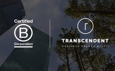 Transcendent ya es una empresa B Corp