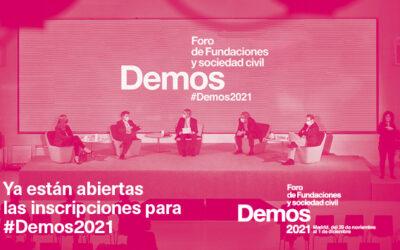 Reserva tu plaza en #Demos2021. El evento referencia del Tercer Sector